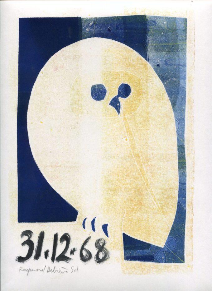 chouette 4- Monotype - Raymond Debiève