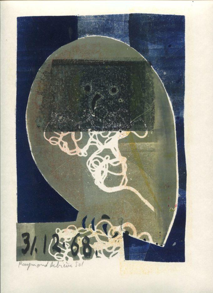chouette 3- Monotype - Raymond Debiève