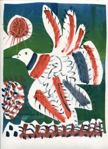 pigeon - Monotype - Raymond Debiève