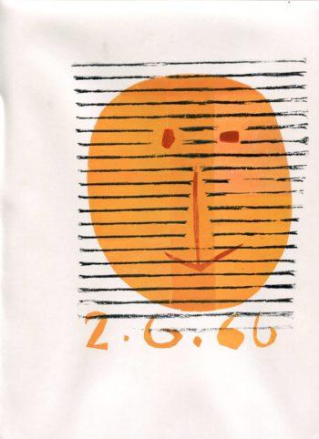 tête 3 - Monotype - Raymond Debiève
