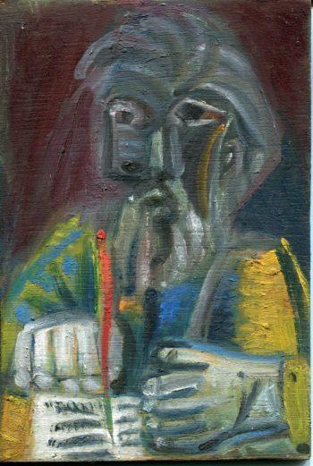 écrivain - Peinture Huile - Raymond Debiève