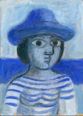 baigneuse bleue25x18:350:21:11:2003  - Peinture Huile - Raymond Debiève