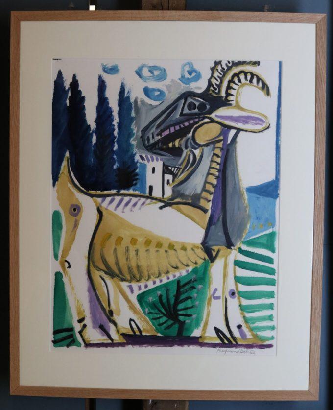 chèvre - Peinture Huile - Raymond Debiève