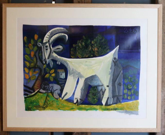 chèvre VII - Peinture Huile - Raymond Debiève