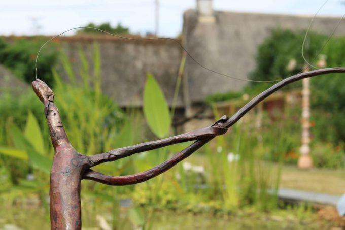 pêcheur pêché - Fer forgé - Bernard Henneuse