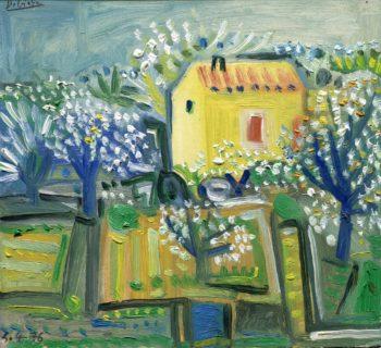 provence 19x21:300 - Peinture Huile - Raymond Debiève