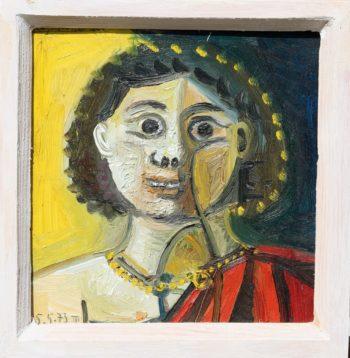 jeune homme à la toge - Peinture Huile - Raymond Debiève