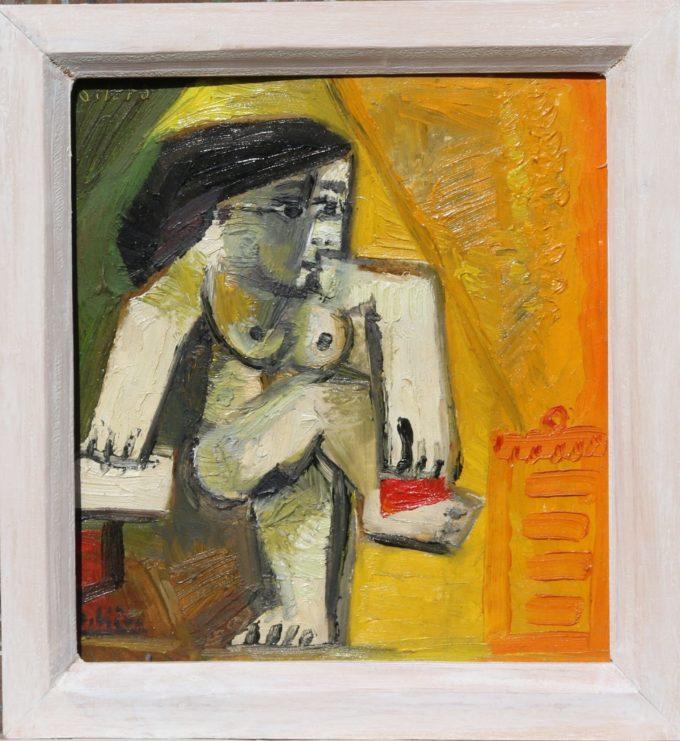 la toilette - Peinture Huile - Raymond Debiève