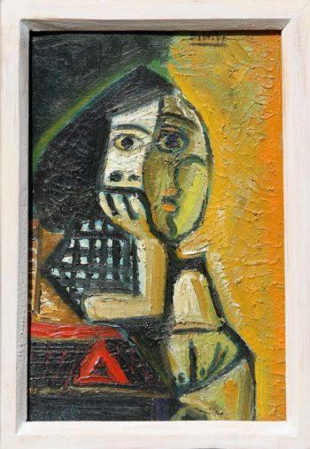 pensive - Peinture Huile - Raymond Debiève