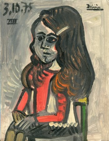Jeune fille - Raymond Debiève - 1975 - 27x21cm