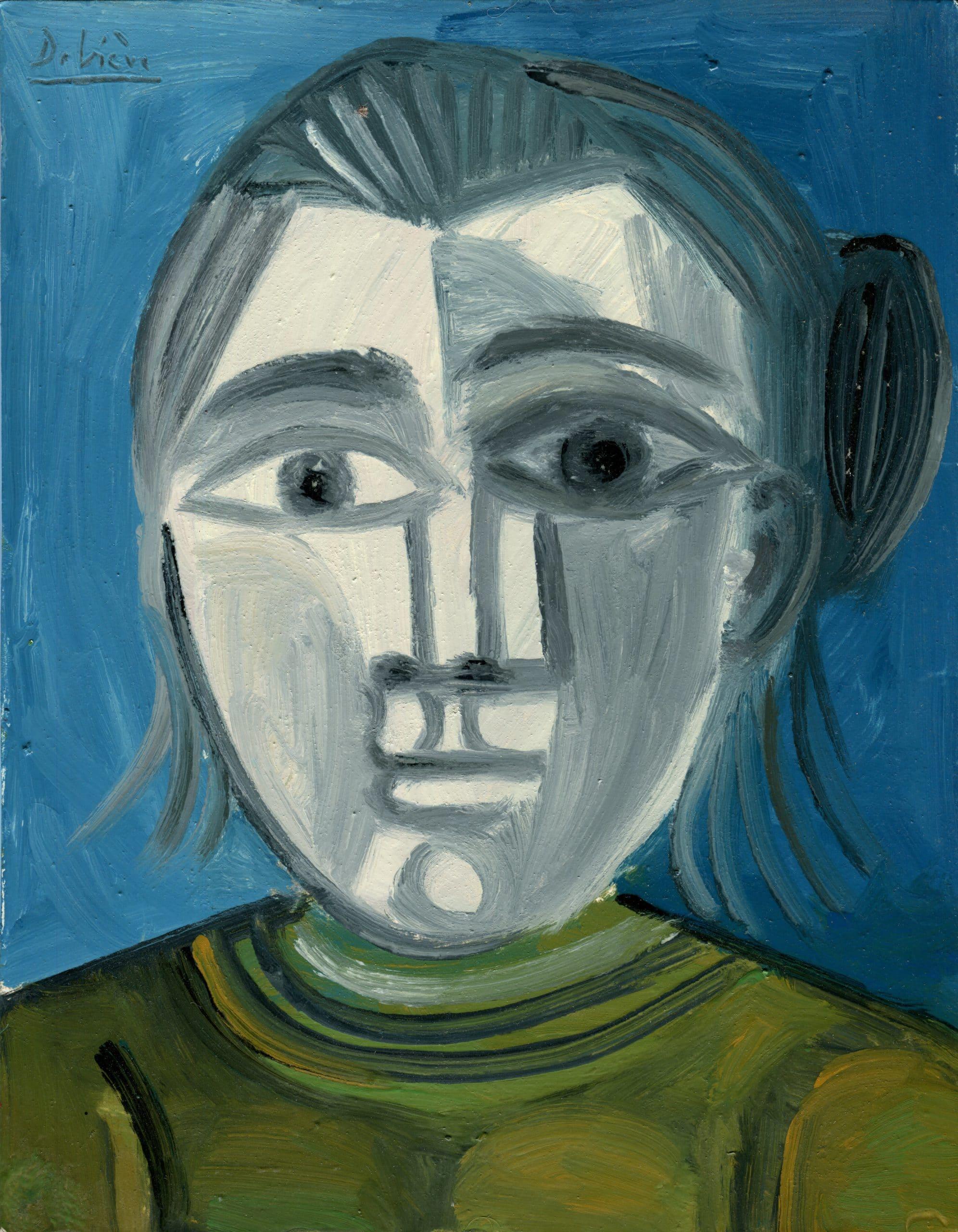 Portrait aux cheveux gris - Raymond Debiève - 1982 - 27x21cm