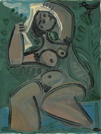 femme au bain - Raymond Debiève