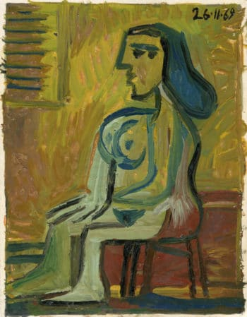 Raymond Debiève - femme nue assise