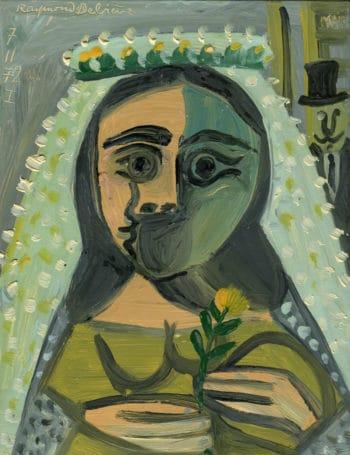 Mariée à la fleur jaune - Raymond Debiève