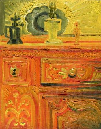Buffet à la statuette jaune - Raymond Debiève