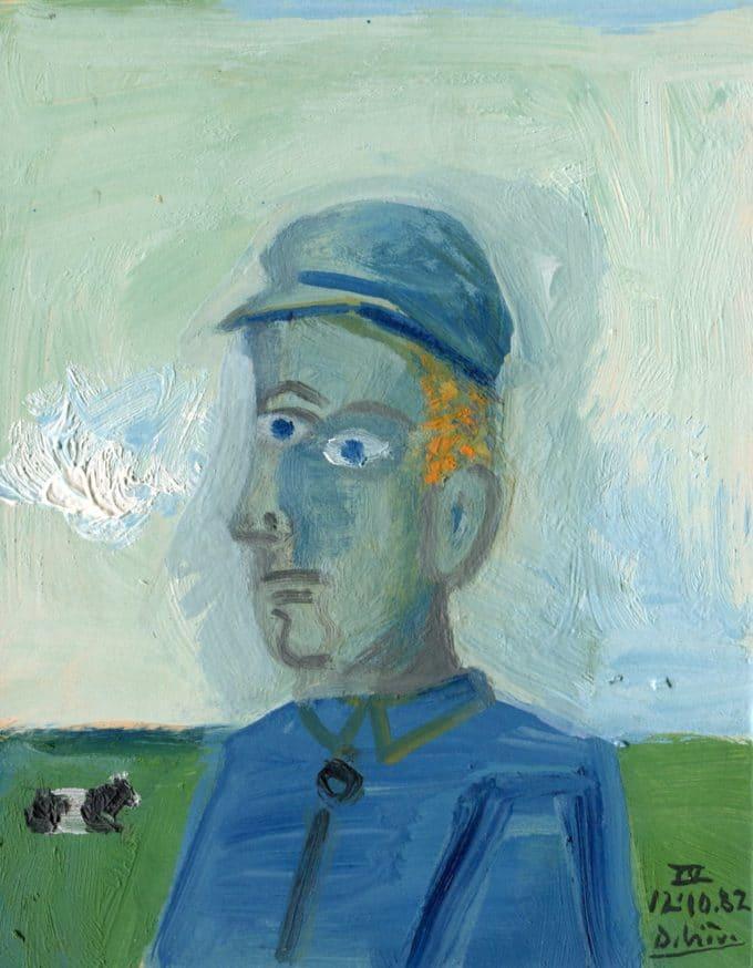 Raymond Debiève - Homme à la casquette bleue