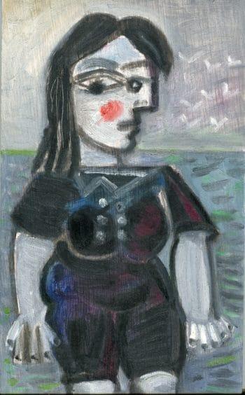 Raymond Debiève - baigneuse aux joues rouges, 2002-2003, 31x18,5cm