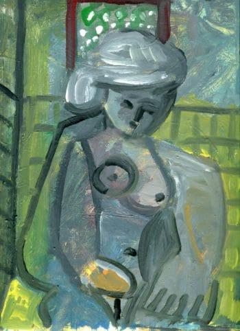 Raymond Debiève - la toilette aux cheveux blancs32,5x25, 1999